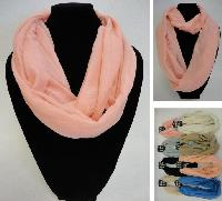 Light Weight Infinity Scarf [Solid Colors]